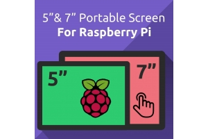 "5"" and 7"" Portable Touchscreen for Raspberry Pi 4/3B+/3: UCTRONICS HDMI LCD Display with Capacitive 5-Finger Touch"