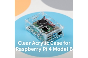 Clear Acrylic Case for Raspberry Pi 4 Model B from UCTRONICS: The New Pi Overheats, Get a Pi 4B Enclosure with Air Cooling!