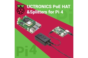 UCTRONICS Power over Ethernet (PoE) HAT and splitter for Raspberry Pi 4: Power Your Next Pi with An Ethernet Cable
