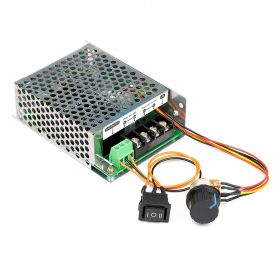 UCTRONICS Stepless DC Motor Controller, DC 10-50V 60A, Motor Speed Controller with Adjustable Potentiometer, Forward-Brake-Reverse Switch and LED Indicator for DC Brush Motor, DC Lamps/LED