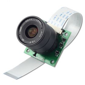 OV5647 Camera Board /w CS mount Lens fully compatible with Raspberry Pi 4/3B+/3 Camera