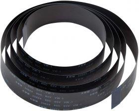 Pi Camera Cable, Arducam Octoprint Octopi Webcam, Monitor 3D Printer, 3.28FT/100CM Long Extension Flex Ribbon Cable for Raspberry Pi, Black