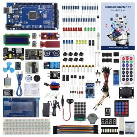 UCTRONICS Ultimate Starter Kit for Arduino with Instruction Booklet, MEGA 2560 R3, ESP8266 Module, 1602 LCD, NE555 Timer, RTC Module, DHT11 Temp & Humi Sensor, Water Lever Sensor, Sound Sensor Module