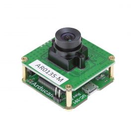 Arducam 1.2MP Global Shutter USB Camera Evaluation Kit - CMOS AR0135 1/3-Inch Monochrome Camera Module with USB2 Camera Shield