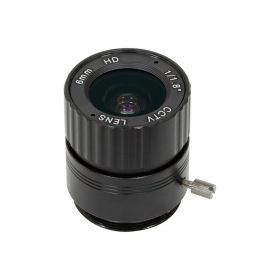 Arducam Lens for Raspberry Pi High Quality Camera, Wide Angle CS-Mount Lens, 6mm Focal Length with Manual Focus