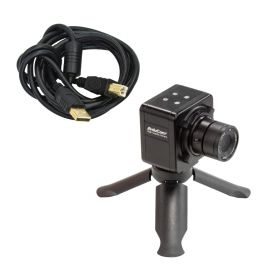 """Arducam 1/3"""" AR0331 USB Camera with 4mm Manual Focus CCTV Video Lens, 3MP HDR UVC USB2.0 Webcam with Dual Microphones, Mini Tripod, and 6.56ft/2m Cable for Computer"""