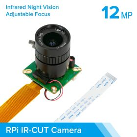 Arducam High Quality IR-CUT Camera for Raspberry Pi, 12.3MP 1/2.3 Inch IMX477 HQ Camera Module with 6mm CS Lens for Pi 4B, 3B+, 2B, 3A+, Pi Zero and more