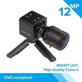 Arducam High Quality Complete USB Camera Bundle, 12MP 1/2.3 Inch IMX477 Camera Module with 2.8-12mm Varifocal Lens C20280M12, Metal Enclosure, Tripod and USB Cable