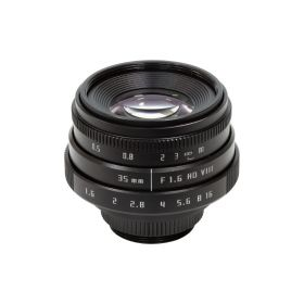 Arducam 35mm F1.6 Mirrorless C-Mount Lens for Raspberry Pi HQ Camera, with C-CS Adapter