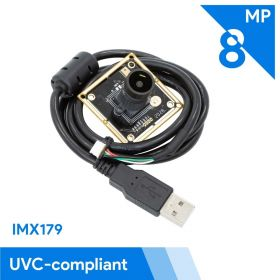 Arducam 8MP 1080P USB Camera Module with M12 Mount, 1/3.2″ CMOS IMX179 UVC USB2.0 Webcam Board with 3.3ft/1m Cable for Windows, Linux, Android and Mac OS