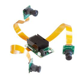 Arducam 12MP IMX477 camera and 2*1MP OV9282 Monochrome camera with DM1090FFC_R0M0E0 OAK USB3 Edition for DepthAI