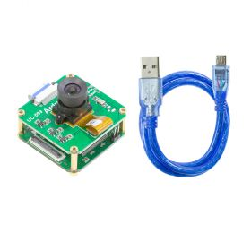 Arducam OV9281 1MP Global Shutter USB Camera Evaluation Kit - 1/4-inch Monochrome M12 NoIR Camera Module with USB2 Camera Shield (Rev.E) for Raspberry Pi
