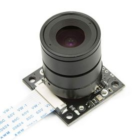Arducam Noir Camera for Raspberry Pi, Interchangeable CS Mount Lens LS-2717CS, OV5647 5MP 1080P