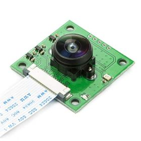 Arducam Fisheye Camera for Raspberry Pi with M12 Lens, 5MP OV5647 1080P Camera Module for Raspberry Pi 4, 3, 3B+