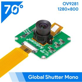 Arducam OV9281 1MP Global Shutter Monochrome NoIR Camera Module with M12 Mount lens for Raspberry Pi 4/3B+/3