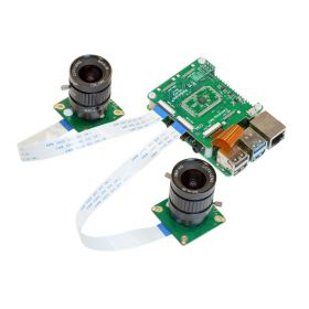Arducam 12MP*2 Synchronized Stereo Camera Bundle Kit for Raspberry Pi, Two 12.3MP IMX477 Camera Modules with CS Lens and Camarray Stereo Camera HAT