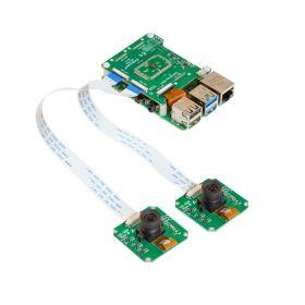 Arducam 1MP*2 Stereoscopic Camera Bundle Kit for Raspberry Pi, Nvidia Jetson Nano/Xavier NX, Two OV9281 Global Shutter Monochrome Camera Modules and Camarray Stereo Camera HAT