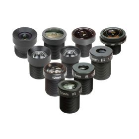"""Arducam M12 Lens Set, Arducam Lens for USB Camera(1/2.7"""" 1/2.8″ 1/2.9″), Telephoto, Macro, Wide Angle, Fisheye Lens Kit (20°- 180°) with M12 Lens Holder and Cleaning Cloth, Optical All-in-One"""