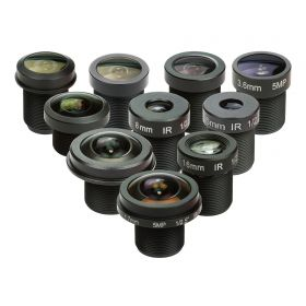 Arducam M12 Lens Set, Arducam Lens for Raspberry Pi Camera (1/4') and Arduino, Telephoto, Macro, Wide Angle, Fisheye Lens Kit (10°- 200°) with M12 Lens Holder and Cleaning Cloth, Optical All-in-One