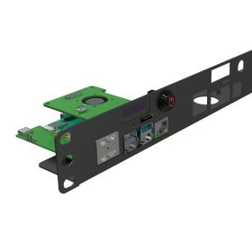 Raspberry Pi 4 Rack Mount 19 Inch 1U Bracket w/ OLED Monitor, Power Switch & Cooling Fan