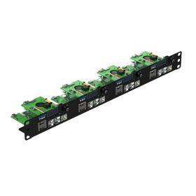 "UCTRONICS Ultimate Rack with PoE Functionality for Raspberry Pi 4, 19"" 1U Rackmount with PoE HAT, All IO on One Side, OLED Display, Power Switch, and Cooling Fan"