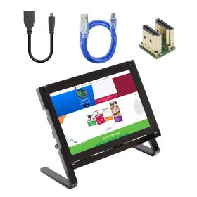 UCTRONICS 5 Inch Touchscreen for Raspberry Pi with Prop Stand, 800×480 Portable Capacitive HDMI LCD Display Monitor for Pi 4, 3 B+, Windows 10 8 7, Free Driver