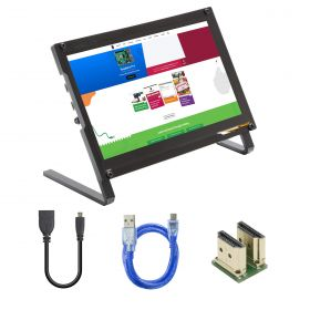 UCTRONICS 7 Inch IPS Touchscreen for Raspberry Pi with Prop Stand, 1024×600 Capacitive HDMI LCD Monitor Portable Display for Raspberry Pi 4, 3 B+, Windows 10 8 7, Free Driver