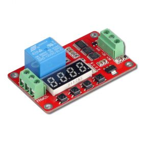 UCTRONICS DC 12V Programmable Multifunction Time Delay Relay Module with Segment LEDs Display for Smart Home, Automatic Control