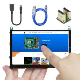 UCTRONICS 5 Inch Touch Screen for Raspberry Pi, 800×480 Capacitive HDMI LCD Touchscreen Monitor Portable Display for Pi 4 B, 3 B+, Windows 10 8 7 (Free Driver)