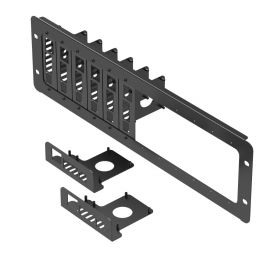 UCTRONICS 19 inch 3U Rack Mount for Raspberry Pi 4, with 8 Mounting Plates, Extendable to Support 12 Units of All Raspberry Pi B/B+ Models