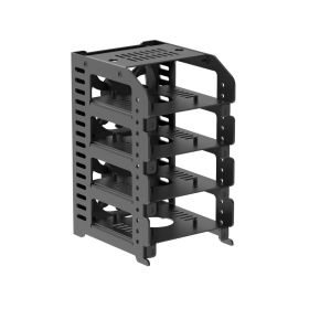 """Raspberry Pi Cluster, UCTRONICS Metal Rack Case with 4 Removable Layers and 2 Cooling Fans, Support Raspberry Pi 4B, 3B+/3B and Other B Models, Optional 2.5"""" SSD Mounting Plate"""