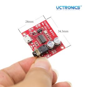 UCTRONICS Bluetooth 5.0 Mini Audio Receiver Board, Portable Wireless HiFi Stereo Music Transmitter for Headphone, Car Amplifier, Home Sound System, DIY Speaker