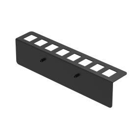 UCTRONICS I/O Panel with 8 Slots for Keystone Jacks, Compatible with 19 inch 1U Mac Mini Rack Mount
