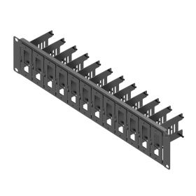 UCTRONICS Upgraded 2U Rackmount for Raspberry Pi 4, 19-inch 2U Server Rack with 12 Pieces of Removable Mounting Plates for Raspberry Pi 4 Model B