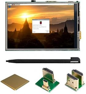 UCTRONICS 3.5 Inch Touch Screen for Raspberry Pi 4, HDMI TFT LCD Mini Display with Stylus Pen for Pi 4 B, 3 B+