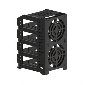"""UCTRONICS Raspberry Pi Cluster, Metal Rack Case with Protection Shield, 4 Removable Layers and 2 Cooling Fans, Support Raspberry Pi 4B, 3B+/3B and Other B Models, Optional 2.5"""" SSD Mounting Plate"""