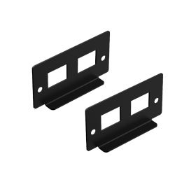 UCTRONICS I/O Panel with 2 Slots for Keystone Jacks, Compatible with Complete Raspberry Pi Ultimate Rack Mount, 2 Pack