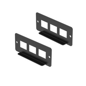 UCTRONICS 3-Slots I/O Panel for Keystone Jacks, Compatible with Front-Removable Raspberry Pi 1U Rackmount, 2 Pack