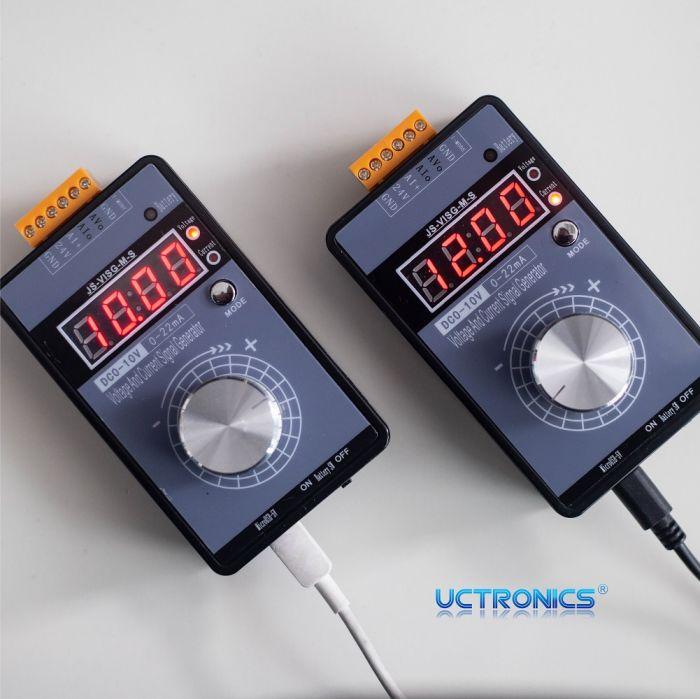 DC Voltage Generator 10mA Analog Signal Generator Stable Signal Generator Module Adjustable Voltage Signal Generator Scientific for PLC MCU etc