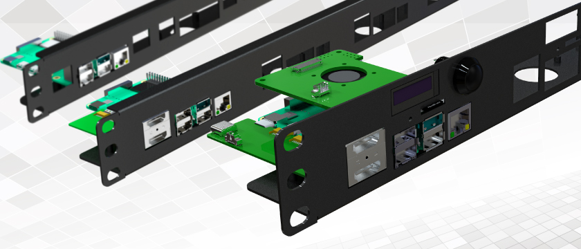 UCTRONICS' Three types of 1U Rack mounts for Raspberry Pi
