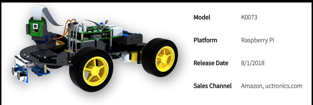 SKU: K0073)UCTRONICS Robot Car Kit for Raspberry Pi V1 0 - UCTRONICS